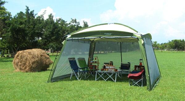 野樂大巨蛋客廳帳-網屋,四周拱型支撐,抗風性穩定性再升級 ARC-640-1 野樂 Camping Ace
