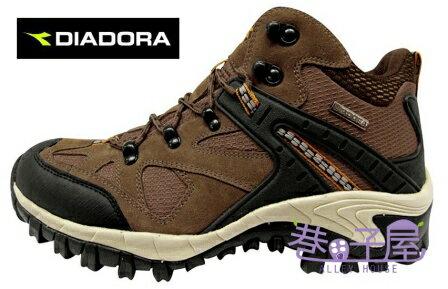【巷子屋】義大利國寶鞋-DIADORA迪亞多納 男鞋牛皮防潑水寬楦戶外越野運動鞋 [6301] 咖啡 超值價$966