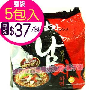 韓國八道 男子拉麵 泡麵 (袋裝5包入)[KR093A] - 限時優惠好康折扣