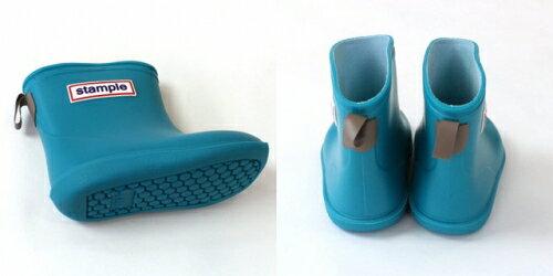 【本月贈鞋墊】日本【Stample】兒童雨鞋(天空藍) 2