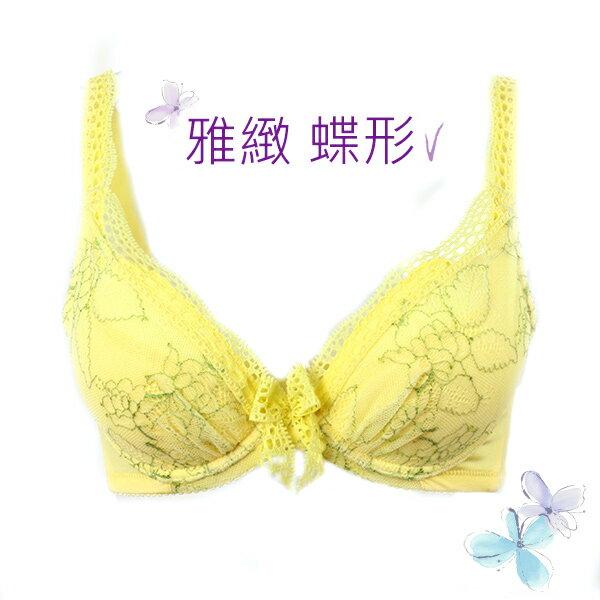 【依夢】挺胸系列 蝶形深V內衣BCD罩杯(玫瑰黃) 4
