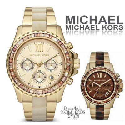 美國Outlet正品代購 MichaelKors MK 精鋼 水鑽  陶瓷  三環 手錶 腕錶 MK5874 0