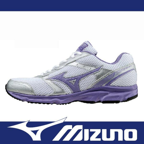 【出清65折!】萬特戶外運動 MIZUNO K1GA161360 女慢跑鞋 MAXIMIZER 18 寬楦 基本款 學生鞋 舒適 白+紫色
