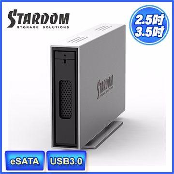 STARDOM 銳銨 i310-SB3(6G) 3.5吋/2.5吋 USB3.0/eSATA 1bay 硬碟外接盒(和順電通) [天天3C]