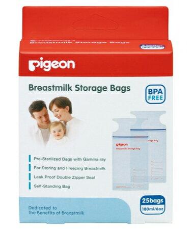 Pigeon貝親 - 母乳冷凍袋 180ml (25入) 0