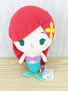 【真愛日本】15122800001 小美人魚艾莉兒30CM 迪士尼公主 娃娃 抱枕 絨毛 公仔