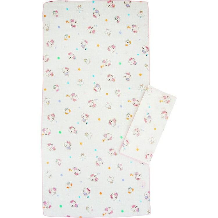 佳美 - Hello Kity凱蒂貓滿版紗布澡巾(2入) 0