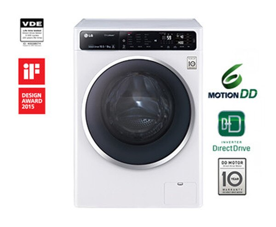 LG 樂金 10.5公斤 變頻 滾筒洗衣機 F1450HT1W ◆105/6/30前送洗衣紙 x2