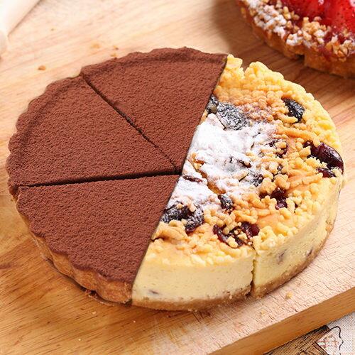 6吋雙拼派:比利時72%生巧克力+蔓越莓起士【布里王子】 0