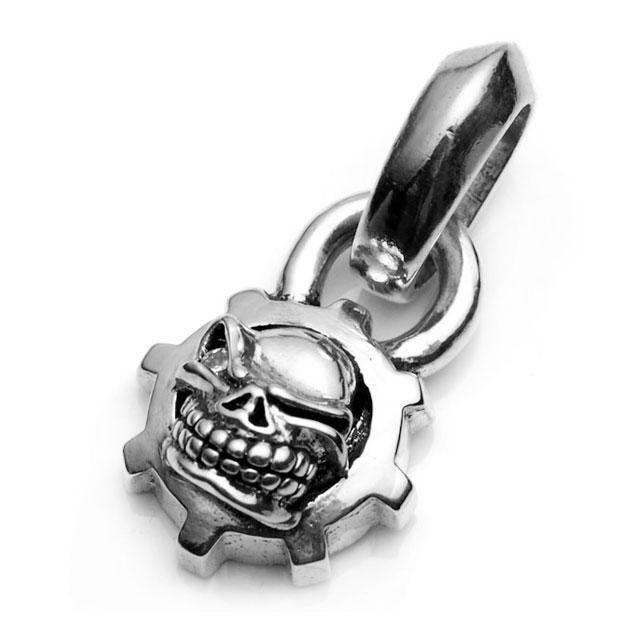 【海外訂購】【STARLINGEAR】經典齒輪骷髏純銀墜飾-鑲鑽款(STP022-D  0253850000) 0