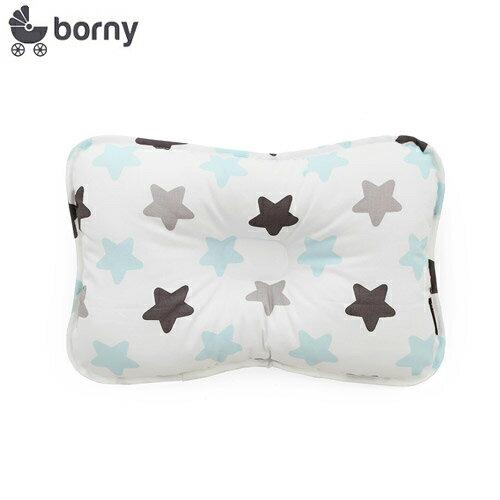 【安琪兒】韓國【 Borny 】3D透氣純棉塑型嬰兒枕(6個月以上適用) (蜜糖藍) - 限時優惠好康折扣