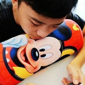 美麗大街【105101210】米奇圓筒造型玩偶 娃娃 枕頭 午睡枕