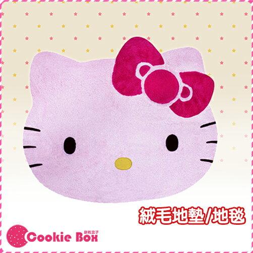 *餅乾盒子* 正版 HELLO KITTY 大頭 造型 絨毛 地墊 地毯 踏墊 粉紅 三麗鷗 凱蒂貓 柔軟 可愛 大型