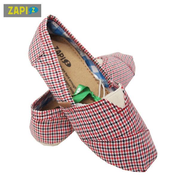ZAPI休閒懶人鞋-學院格子紅(男)