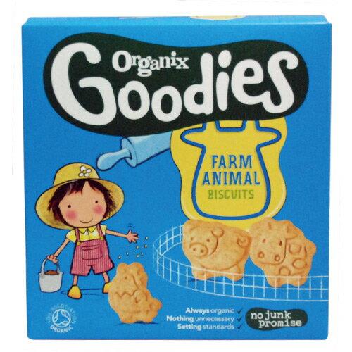 ★衛立兒生活館★英國Organix Goodies 有 機農場動物餅乾(嬰兒副食品)
