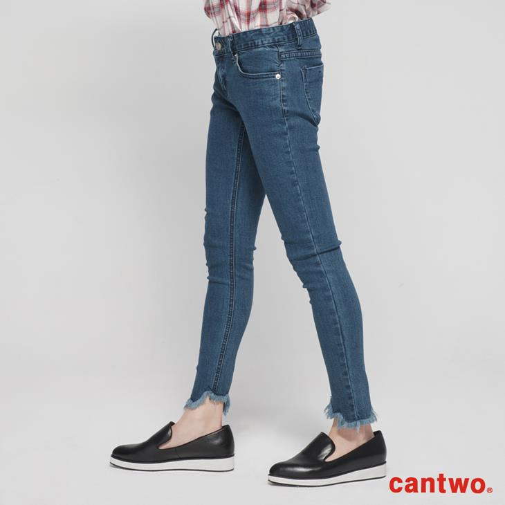 cantwo抽鬚丹寧窄管褲(共一色) 2