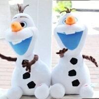 美麗大街【105040608】新款可按式臉發紅雪寶玩偶娃娃抱枕 冰雪奇緣
