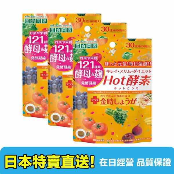 【海洋傳奇】日本醫食同源Hot酵素 膠原蛋白 60粒3包組合【日本直送免運】
