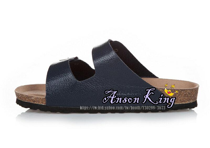 [Anson King]Outlet正品代購  birkenstock Arizona系列 男女款 懶人涼拖鞋 深藍裂紋 1