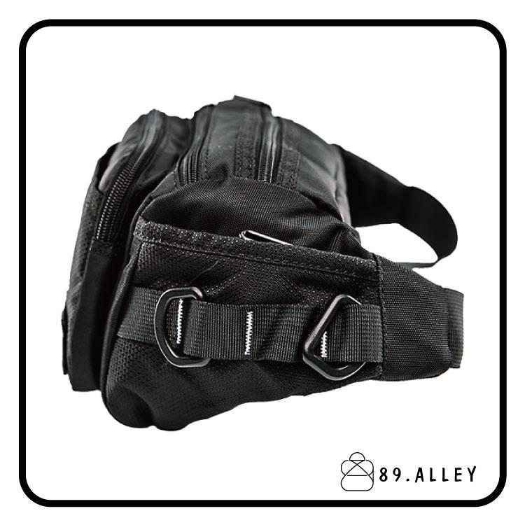 腰包 單肩包 女包男包 黑色系防水包 輕量尼龍立體多層情防搶包 89.Alley 2
