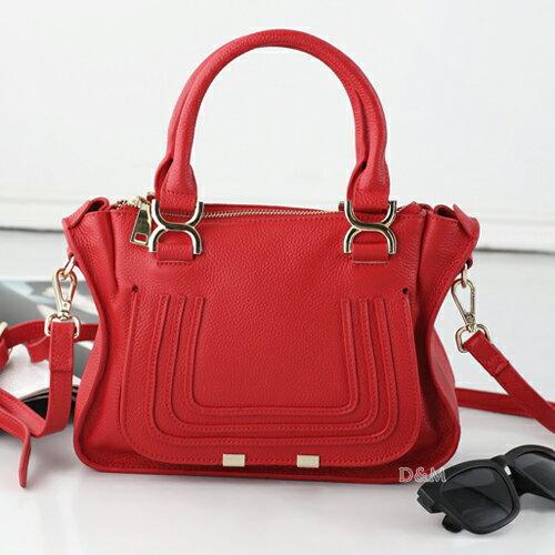 D&M Shop 歐美明星街拍款marcie真皮牛皮手提包 斜/側背包【B11117】