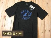 agnès b.到[Anson king]outlet國外代購 agnes b.sport b 藍色 閃電 短袖 圓領 男款 T恤 黑