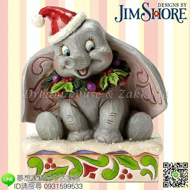 美國ENESCO Jim Shore 愛木小灣 DISNEY 迪士尼 聖誕帽小飛象 ~ 夢