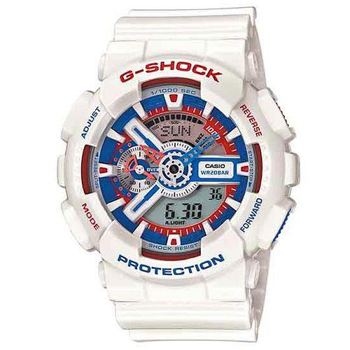 CASIO G-SHOCK GA-110TR-7A美國隊長雙顯腕錶/藍紅面51mm
