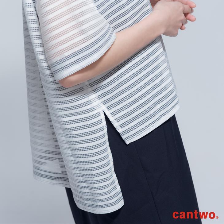 cantwo極簡H型格紋薄紗兩件式洋裝(共二色) 5