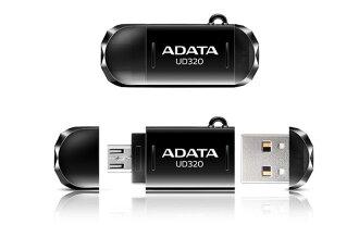 *╯新風尚潮流╭*威剛 UD320 16G 16GB OTG手機電腦兩用隨身碟 AUD320-16G-CBK
