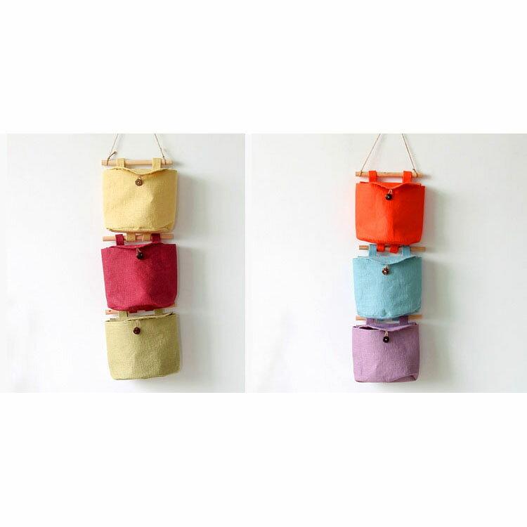 壁掛袋 多層收納袋 置物袋  15*21*8【ZA0469】 BOBI  09/14 2