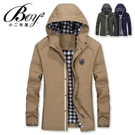 ☆BOY-2☆【NZ78013】休閒皮標連帽夾克外套 0