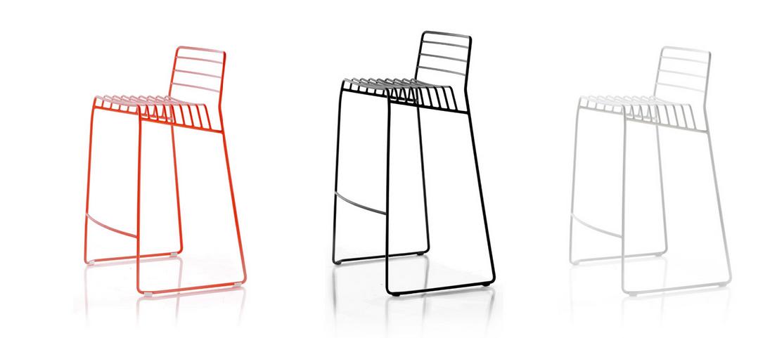 義大利B-Line Park S(Design by Neuland Paster & Geldmacher 2014)椅 鋼絲吧檯椅高77公分 3