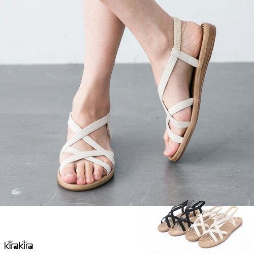 偏小 涼鞋 優雅多線交叉涼鞋