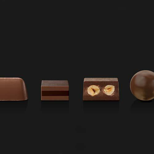 【派尼克帝PERNIGOTTI】義大利進口金磚巧克力★經典黑金裝巧克力禮盒-四款經典榛果黑巧克力198g★ 1