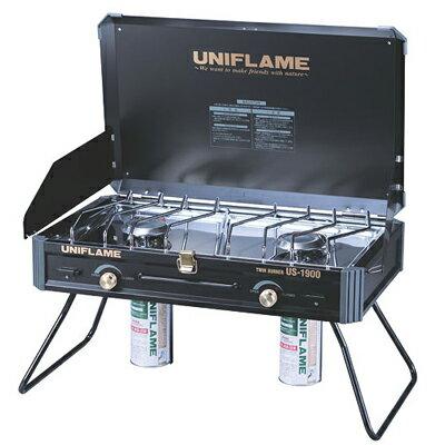 UNIFLAME 瓦斯雙口爐/瓦斯爐 US-1900 黑 日本製 U610312