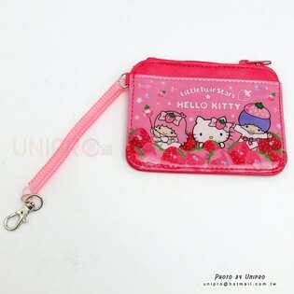 【UNIPRO】雙子星 X 凱蒂貓 Hello Kitty 草莓 卡套 證件套 名片夾 零錢包 三麗鷗正版授權