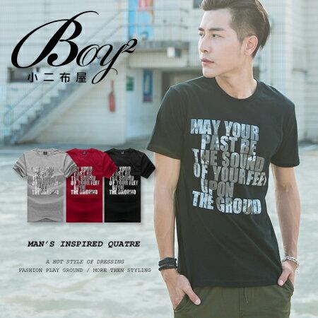 ☆BOY-2☆【JB16057】休閒MAY YOUR T文字反光男裝短袖T恤 0