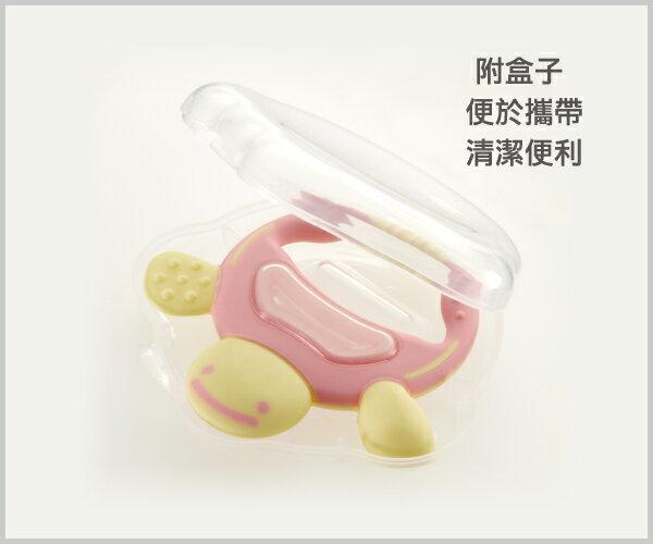 Richell利其爾 - 固齒器 粉紅色手指型 (盒裝) 7