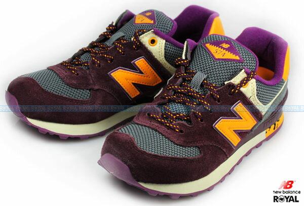 New Balance 574 新竹皇家 深紫 麂皮 網布 輕量 慢跑鞋 女款 NO.I5913