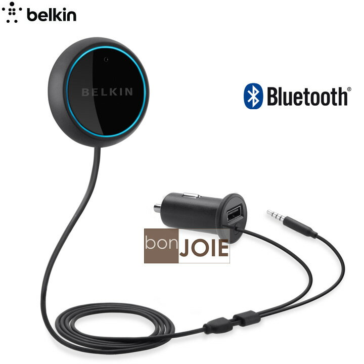 ::bonJOIE:: 美國貝爾金 Belkin Bluetooth CarAudio Connect 車用藍芽音樂通話傳輸器 (全新盒裝) Car for iPod, iPhone,and Android