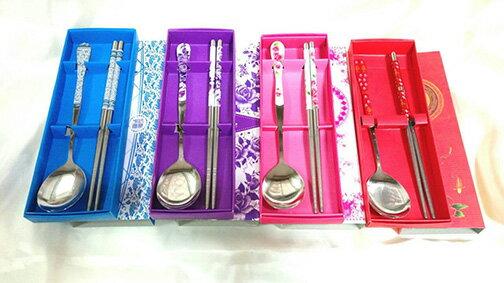 新品促銷~ 筷子湯匙餐具禮盒(10組) 結婚用品 婚禮小物 禮贈品 生活用品 送客禮 ht-0122