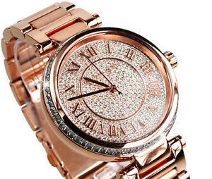 美國Outlet正品代購 MichaelKors MK 復古羅馬數字玫瑰金水鑽  陶瓷  三環 手錶 腕錶 MK5868 5