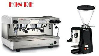 租購Faema半自動咖啡機- Faema E98雙孔營業用咖啡機+磨豆機 (每個月租購只要4500元)--【咖啡簡餐店適用的咖啡機】