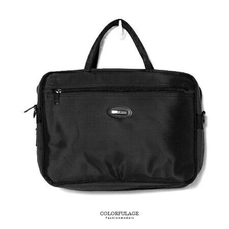 MIT手提包 型男品味精緻尼龍公事包.側背包 可放A4文件.小筆電 素面風格 柒彩年代【NZ461】斜背包 0