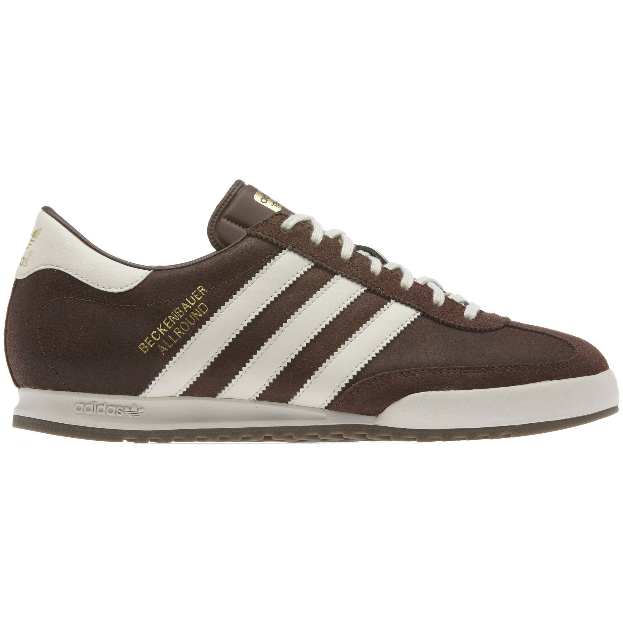 brown adidas samba trainers