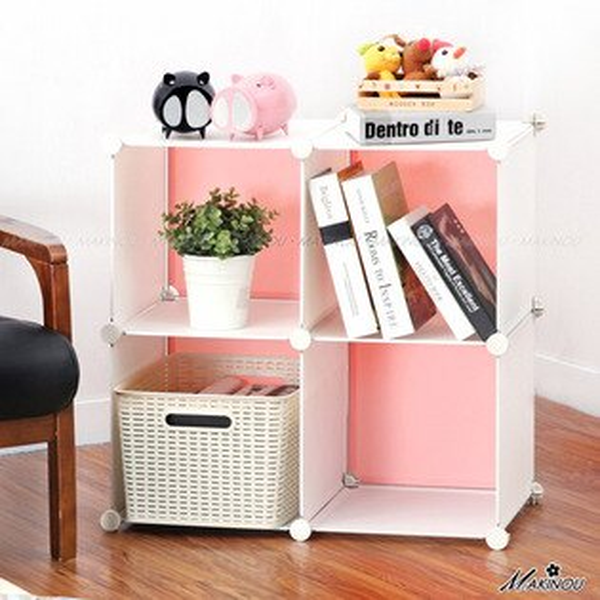 日本MAKINOU|雙排4格魔術方塊衣櫥收納櫃-撞底色不含門-台灣製|衣櫃 置物櫃 牧野丁丁