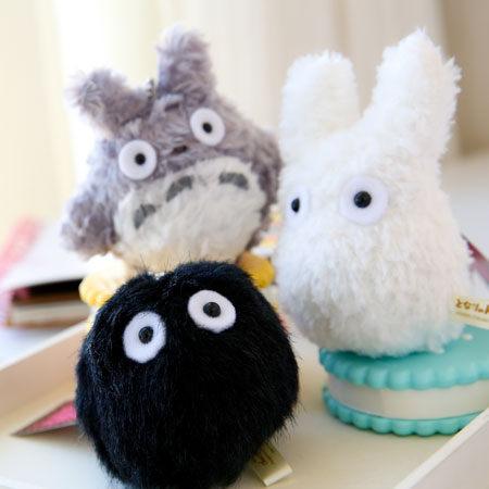 龍貓絨毛珠鍊娃娃 煤炭球 小龍貓 小娃娃 吊飾 鑰匙 豆豆龍 Totoro 宮崎駿 吉卜力【B060854】