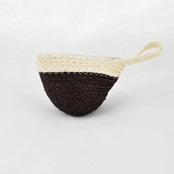 【Mi-Pin】西沙爾麻手工編織零錢包【手創包】深咖啡色