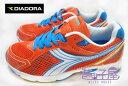 【巷子屋】義大利國寶鞋-DIADORA迪亞多納 女款四大機能螢光色超輕量運動跑鞋 [9103] 桔 超值價$498